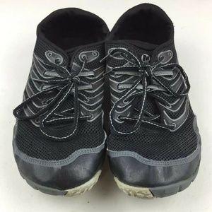 Merrell Men's 12  Black/Gray Trail Glove 3 Shoes